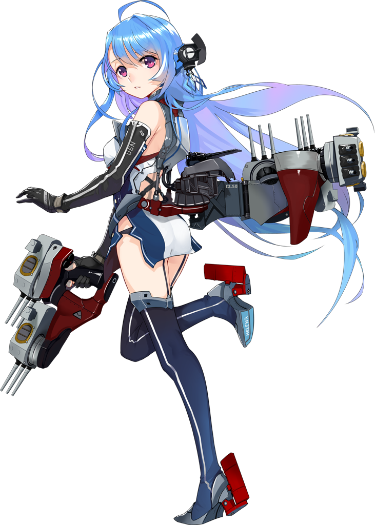 1girl ahoge ass azur_lane bangs bare_shoulders black_legwear black_panties breasts clothes_writing diamond_(shape) dress elbow_gloves eyebrows eyelashes facing_away floating_hair full_body garter_straps gloves gradient gradient_background gradient_hair hair_ornament helena_(azur_lane) long_hair machinery multicolored_hair official_art panties parted_lips pink_eyes purple_hair realmbw shiny shiny_hair short_dress side_slit simple_background small_breasts solo thighhighs transparent_background turret two-tone_hair underwear very_long_hair