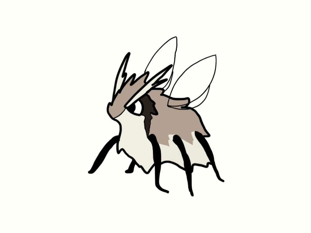 2017 6_legs alternate_species ambiguous_gender antennae arthropod black_eyes black_fur black_markings brown_fur bugdex digital_drawing_(artwork) digital_media_(artwork) eye_markings fakémon featureless_feet feral full-length_portrait fur insect insect_wings markings multi_leg multi_limb multi_wing multicolored_fur nintendo pidgey pokémon pokémon_(species) portrait ricky_hoffman side_view simple_background solo standing tan_antennae tan_fur toony translucent translucent_wings video_games white_background wings