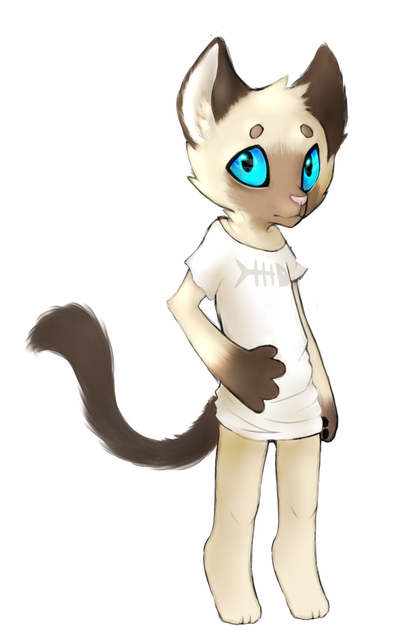 alpha_channel ambiguous_gender anthro bottomless chibi clothed clothing cute feline fur galaxymonster looking_at_viewer mammal simple_background solo standing transparent_background