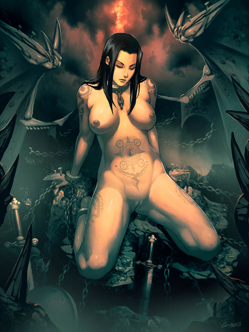 Naked demon artwork nackt pic