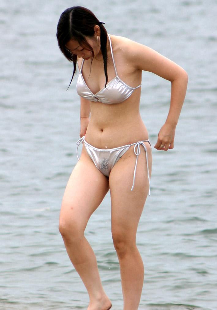 Bikini girl hairy in