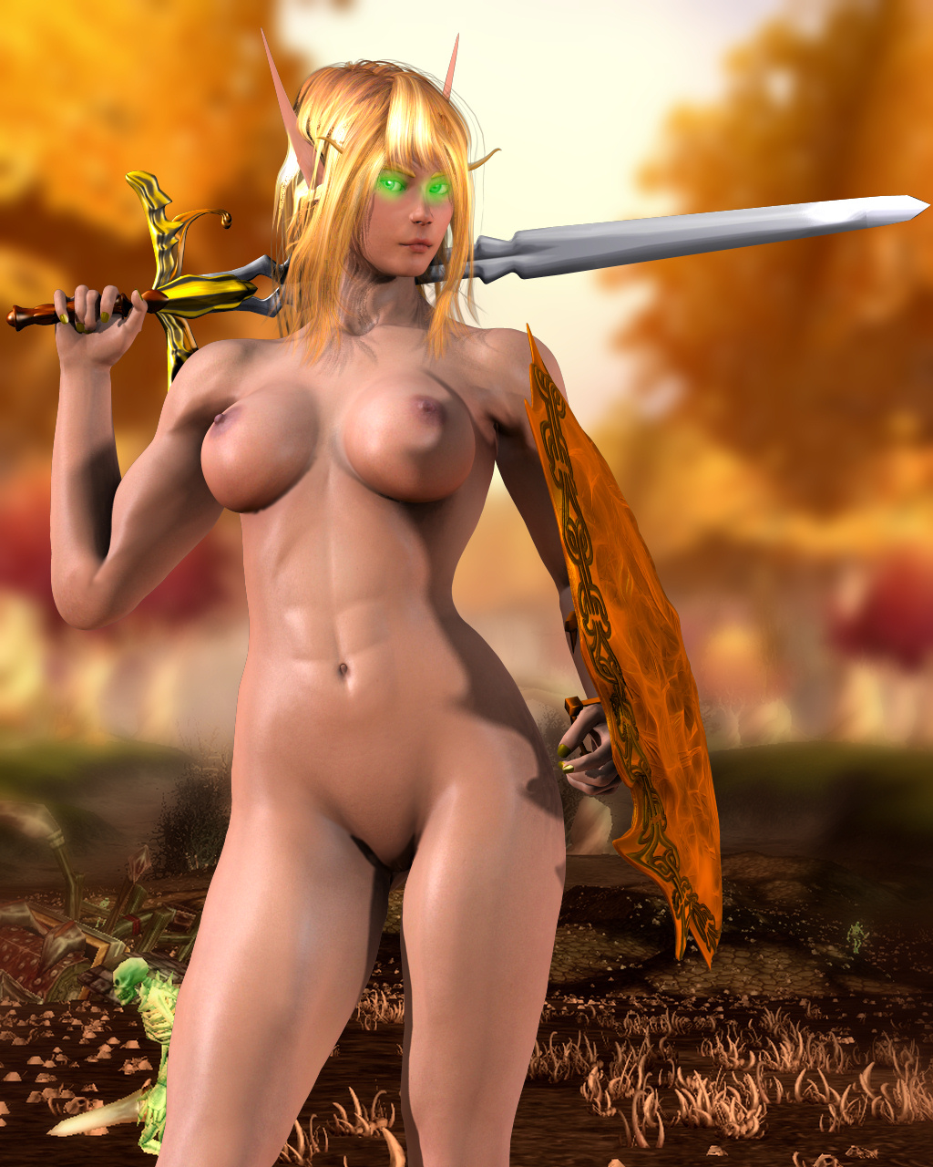 Sexy female elves cosplay sex nude film