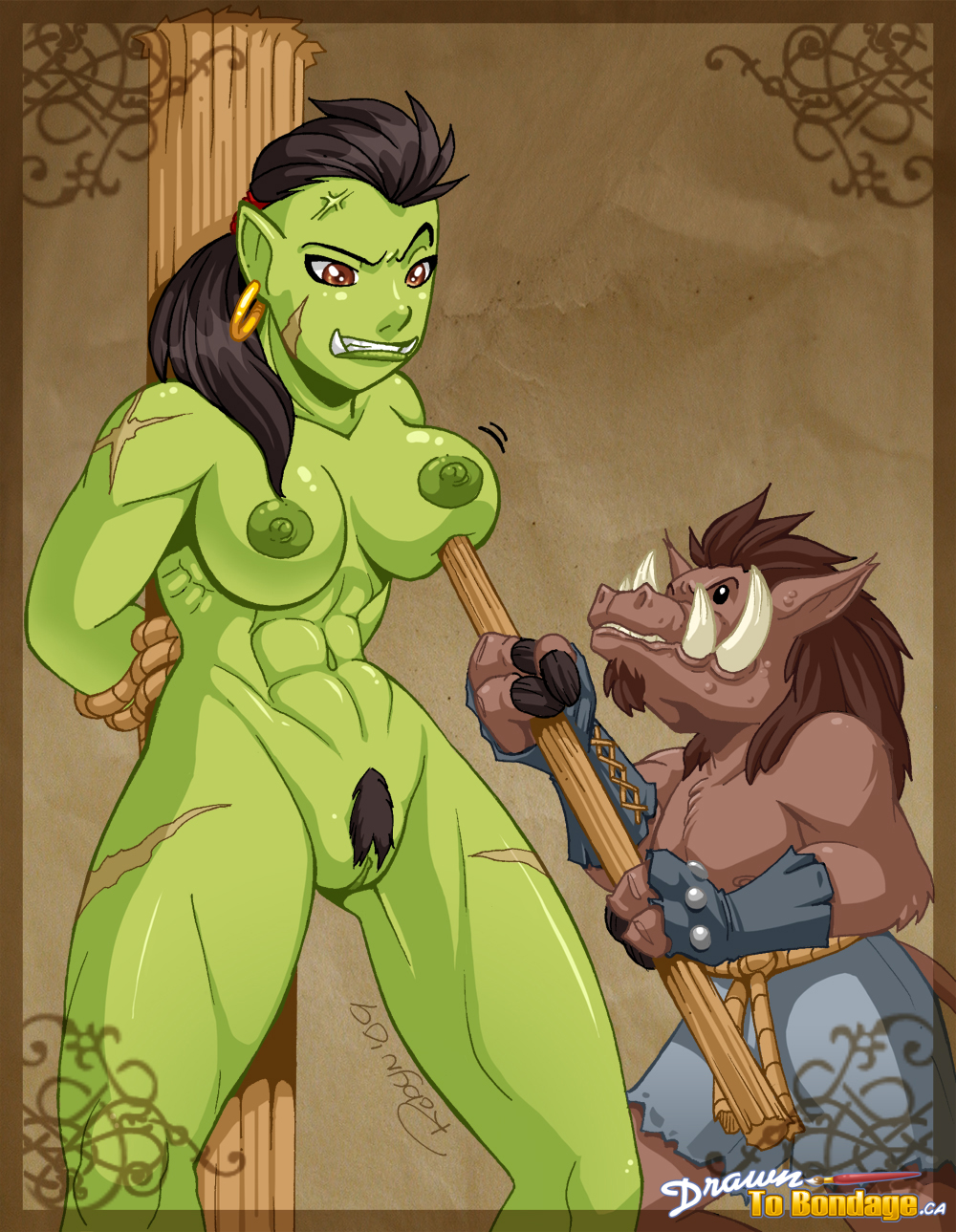World of warcraft porn the orc and  sexy tubes