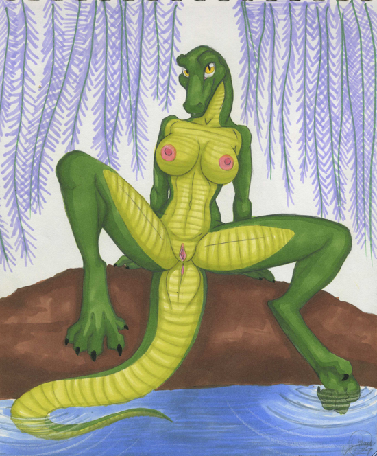 Alligator fucks girl