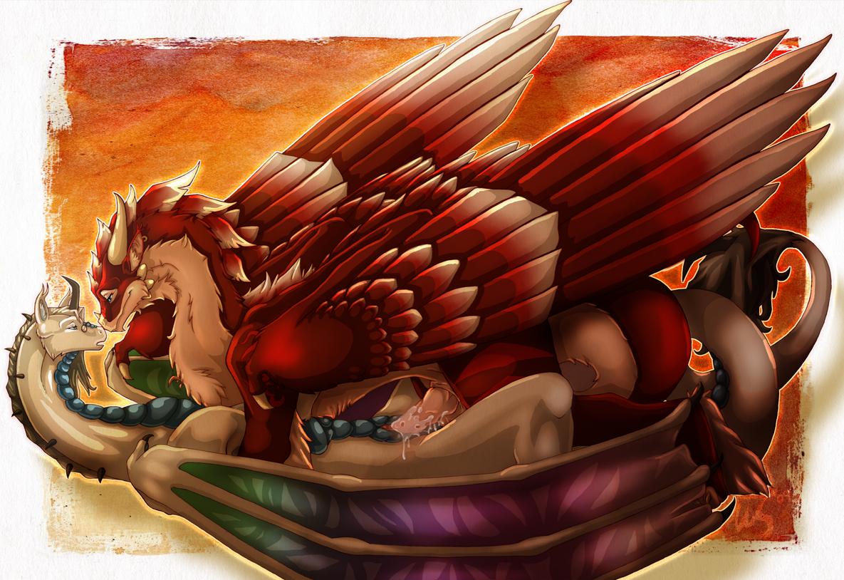 Dragon sacrifice by lucien