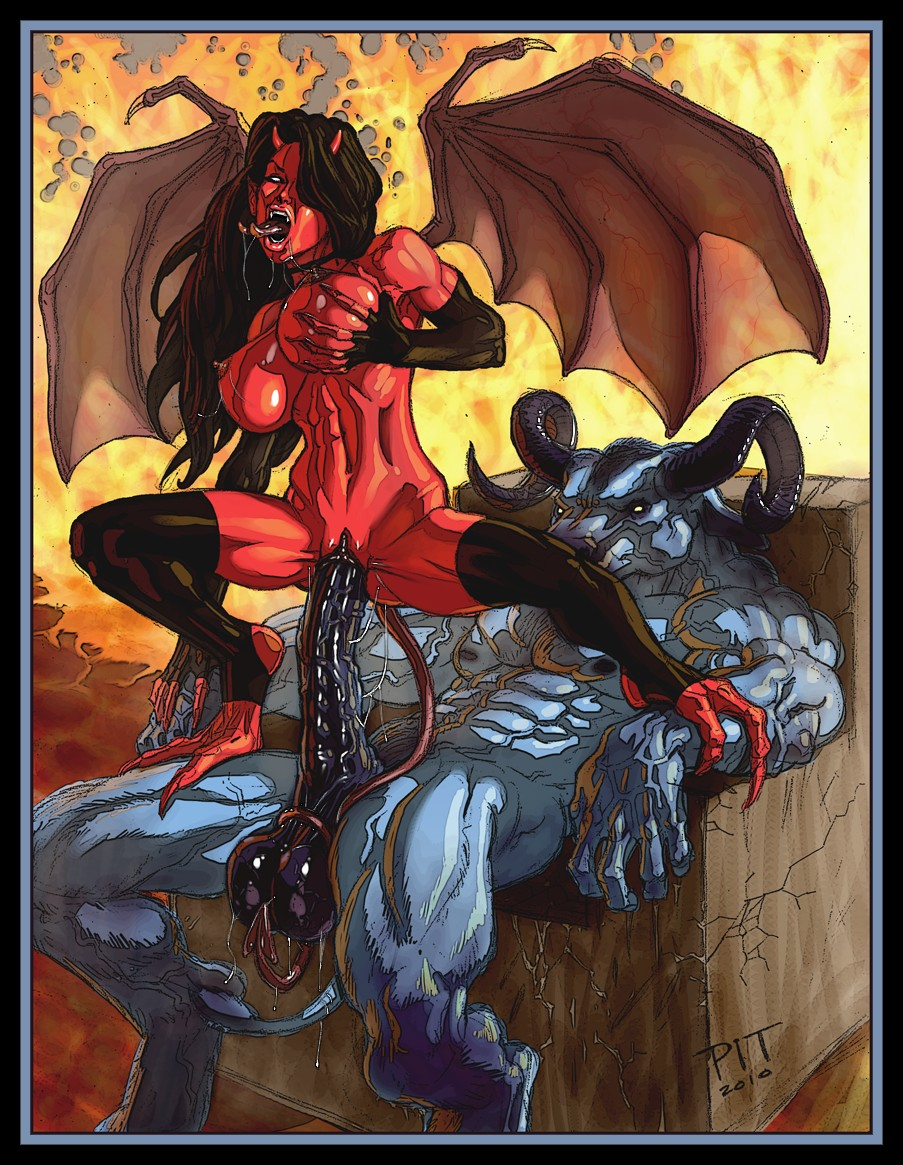 Lesbian cartoon demon hot sex picture