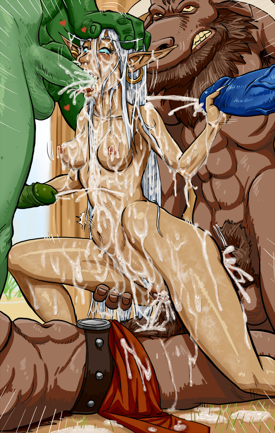 Hentai elf fucked by trolls and orcs nude images