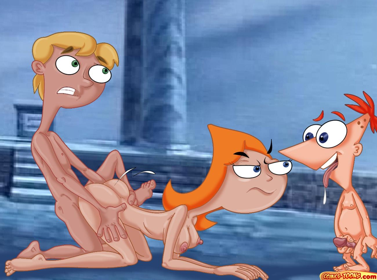 Phineas and ferb are banging candace