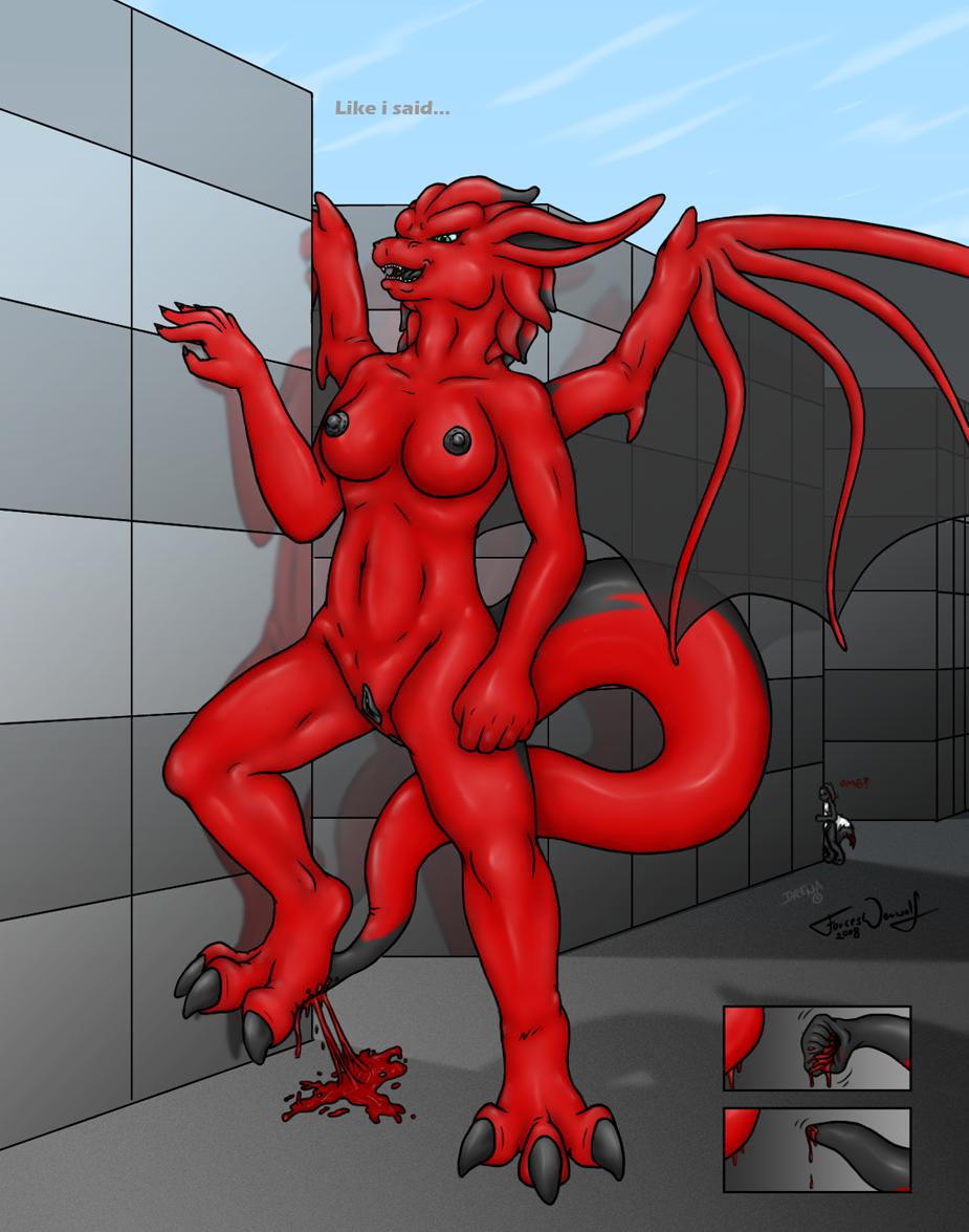 Dragoness anal vore