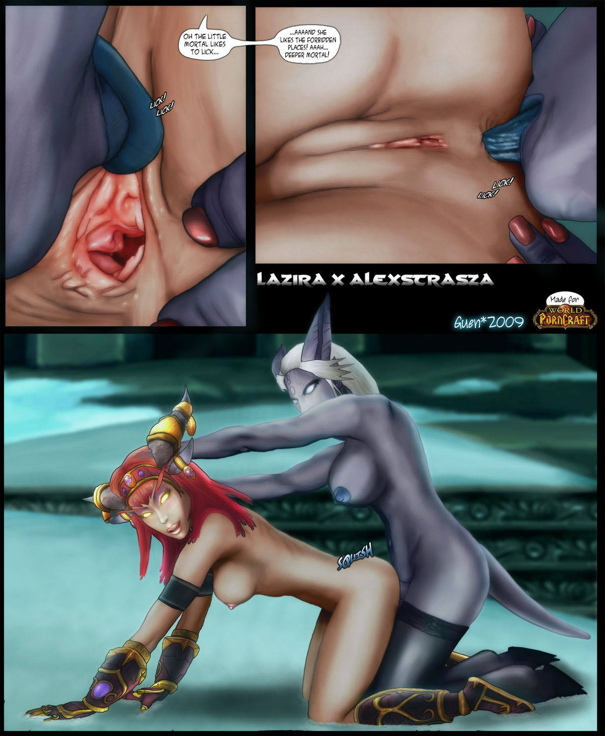 Water elemental fucking blood elf mage hentai porn scenes