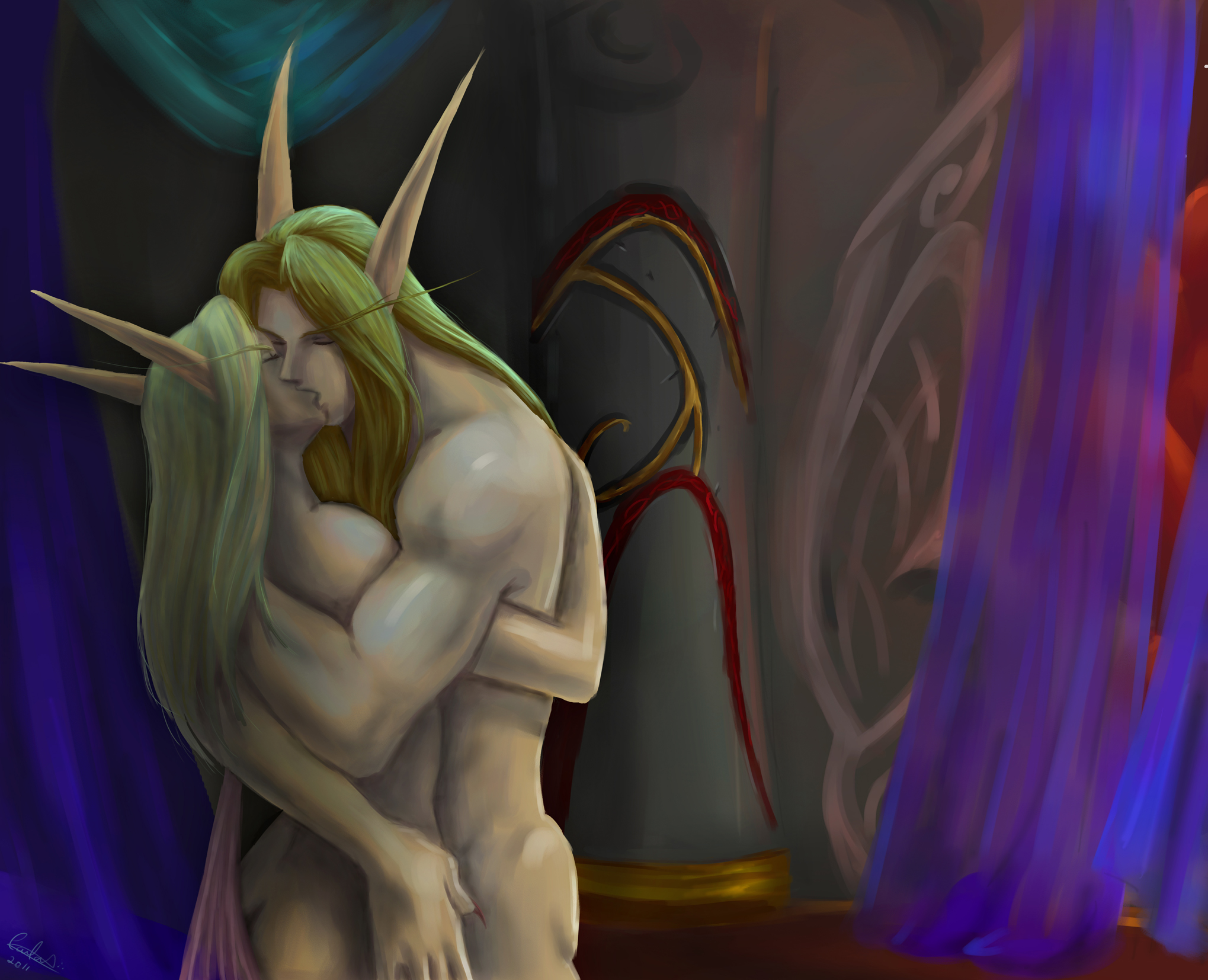 Wow hot naked sexy female blood elf  smut scenes