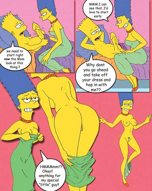 мардж и барт порно комикс