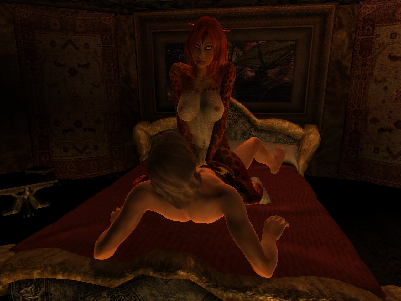Oblivion nude screenshot erotic queen