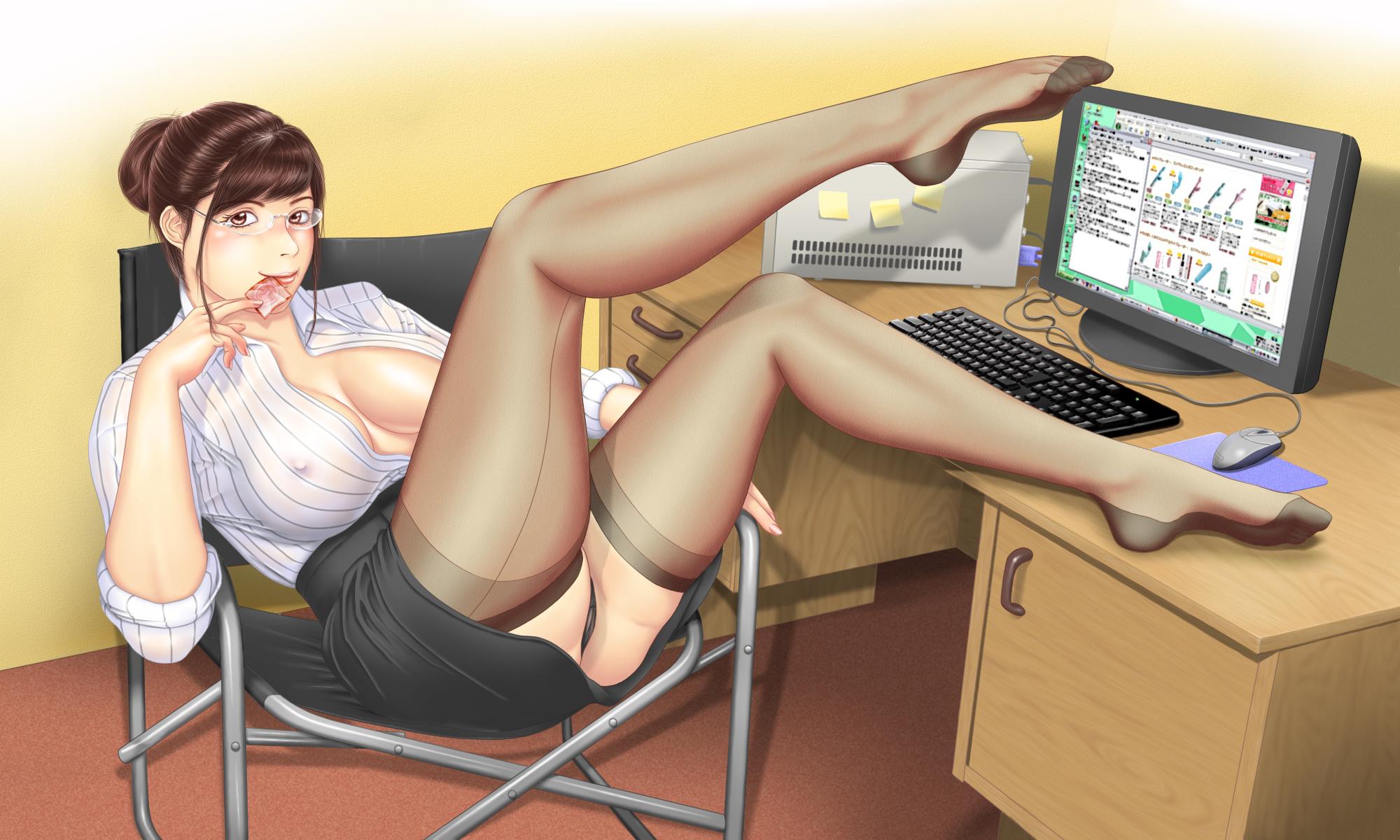 Сексуальные женщины в офисе 15 фотография