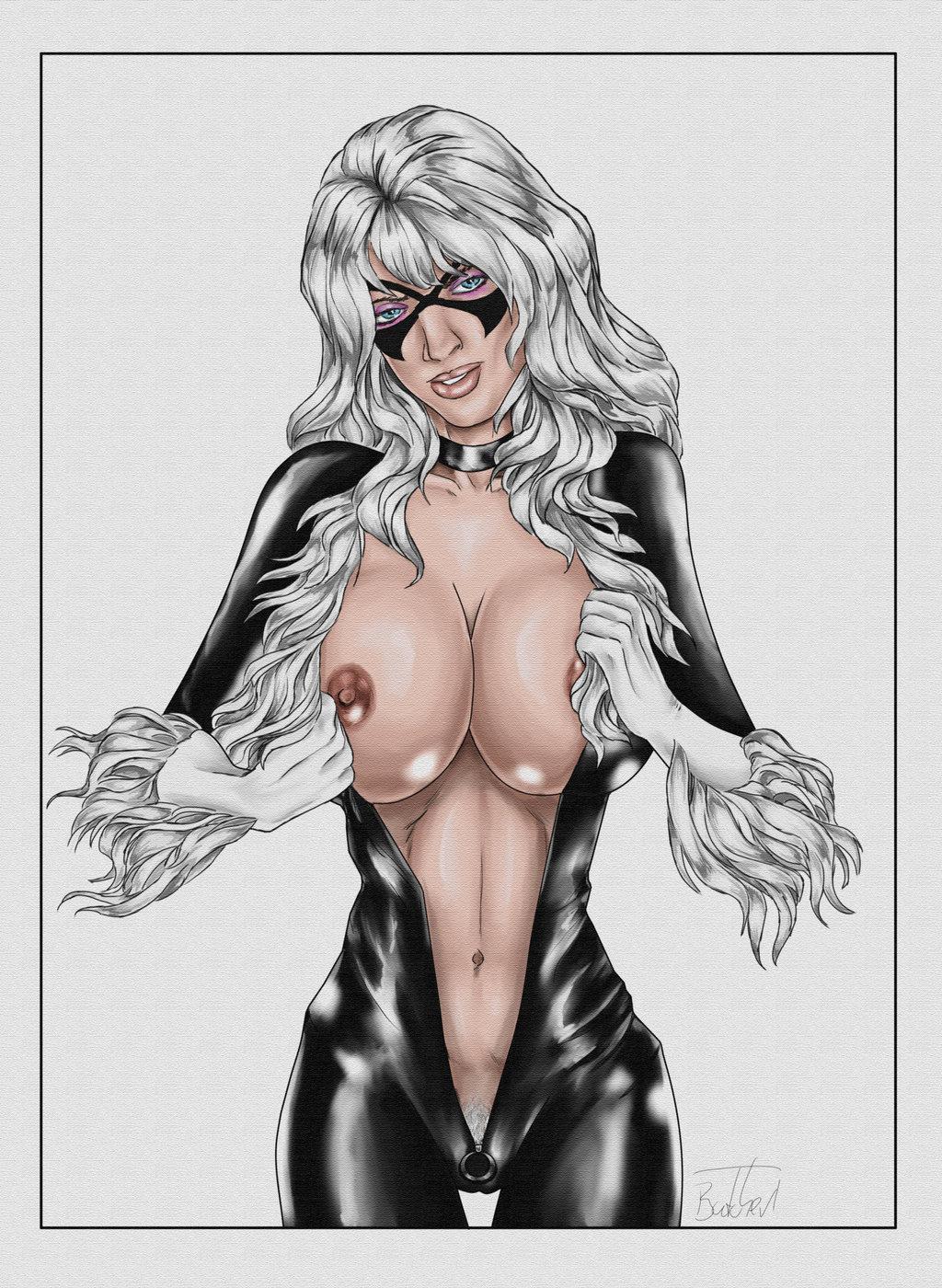 Черная кошка из человека паука порно 18 фотография