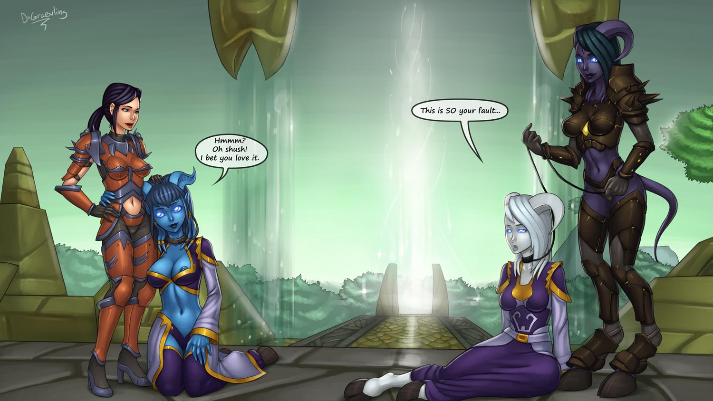 Warcraft hentai draenei imp naked hairy lovers