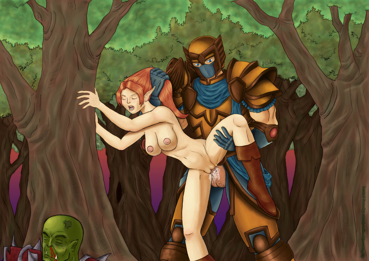 Armored elf xxx naked comic
