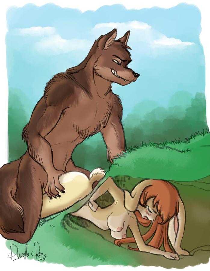 Лис и волк порно