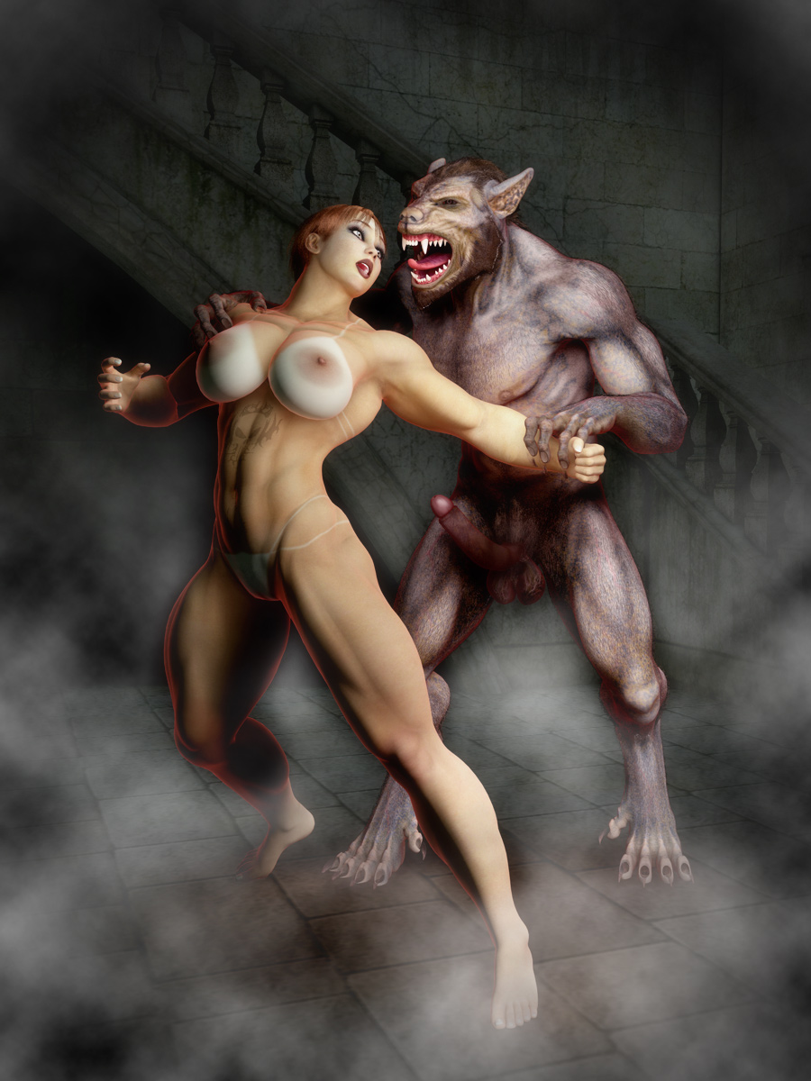 Woman fuck by werewolf hentay video