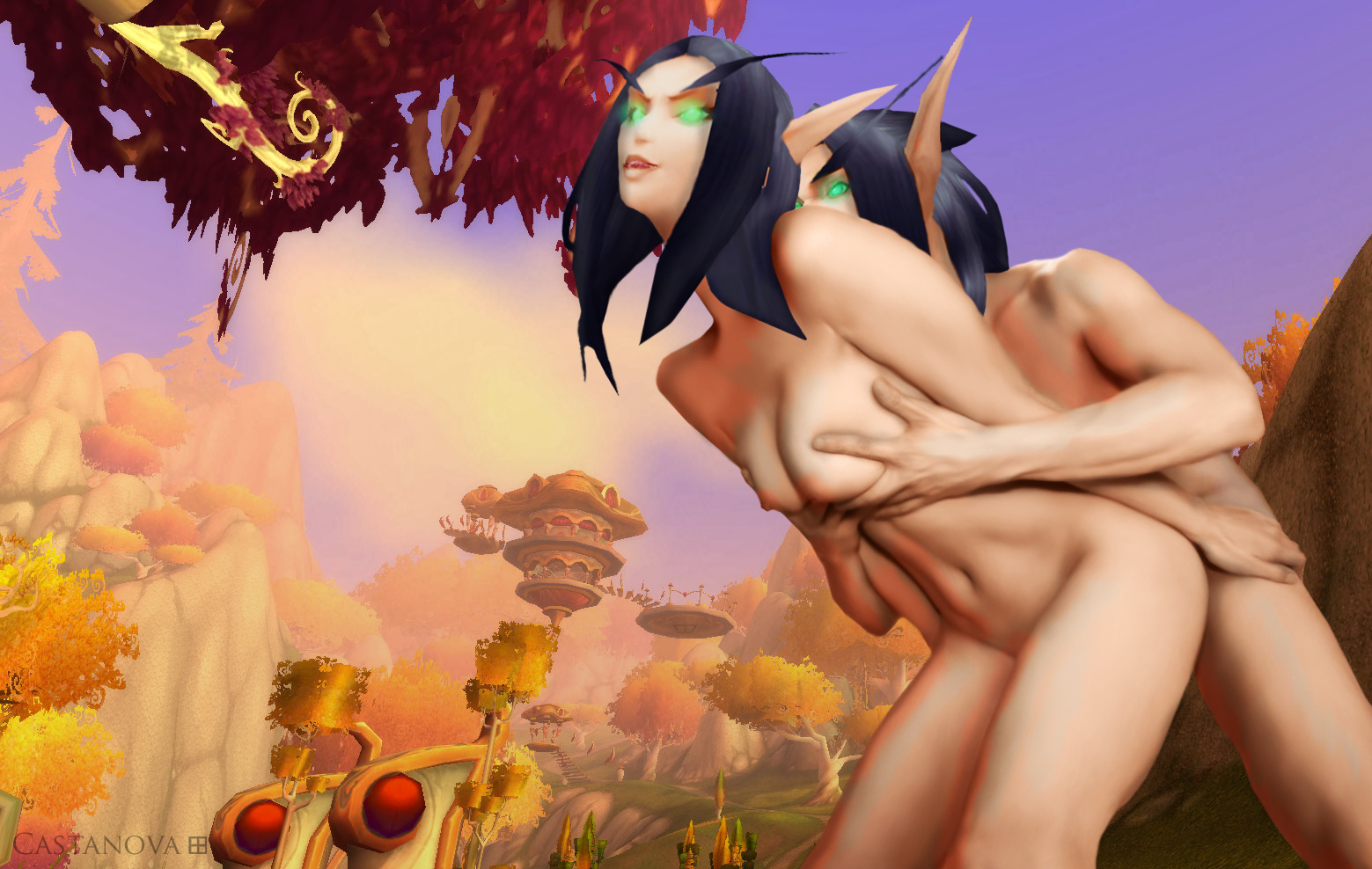 Blood elf nucked world of porncraft anime pic