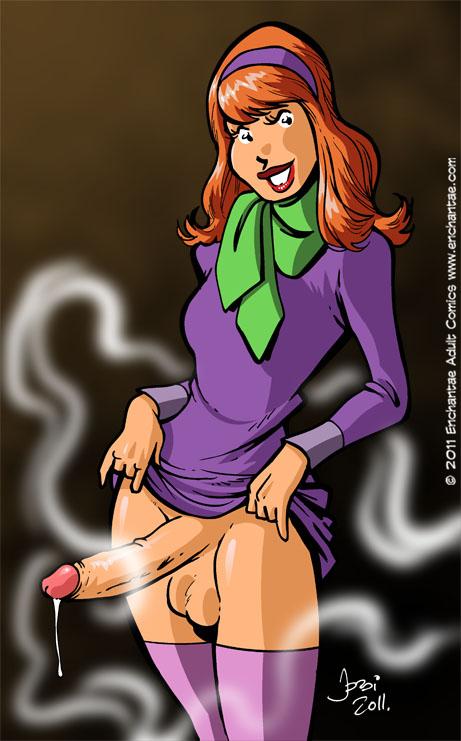 Daphne from scooby doo sucks dick