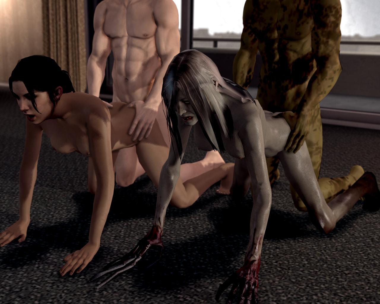 Эротические картинки из left 4 dead, Left 4 Dead 3д порно комикс 17 фотография