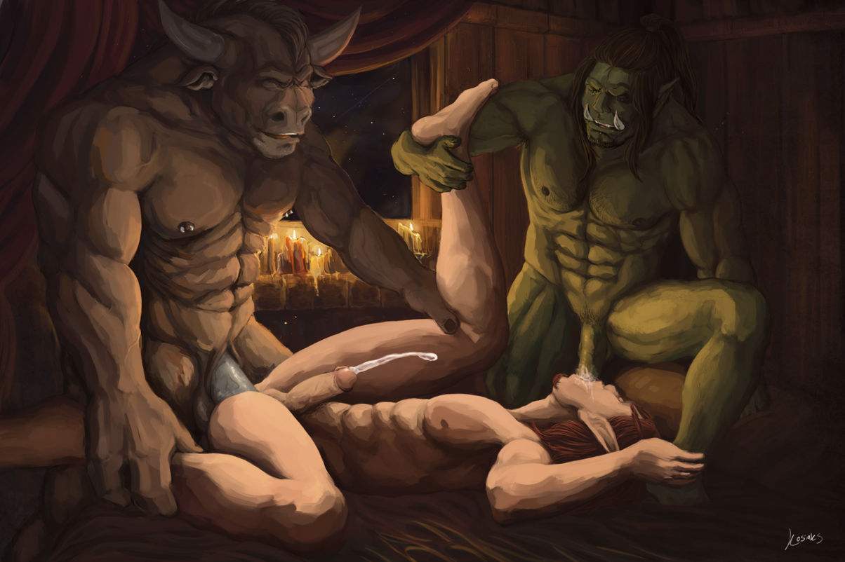 Blood elf orc tauren porn pics cartoon scene