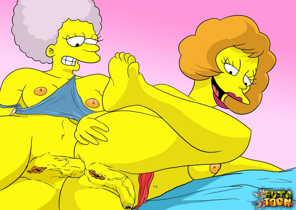 Shemale marge simpson coupled with the brush sisters flock random ragtag cum vivaciously