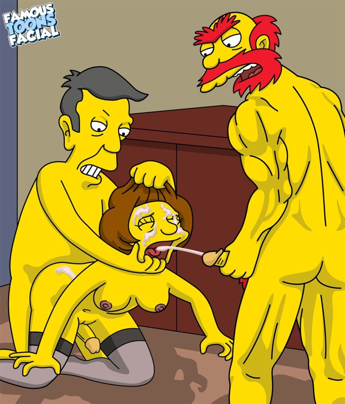 Griffins and Simpsons parody hentai -