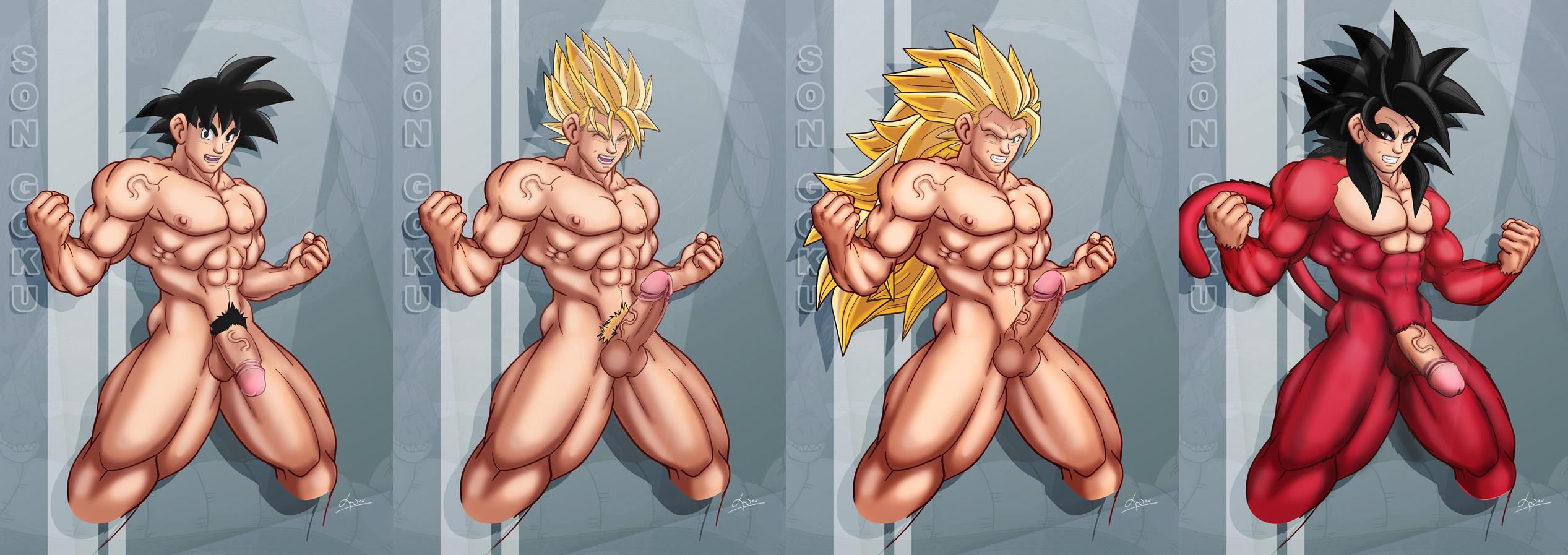 Naked athletic men