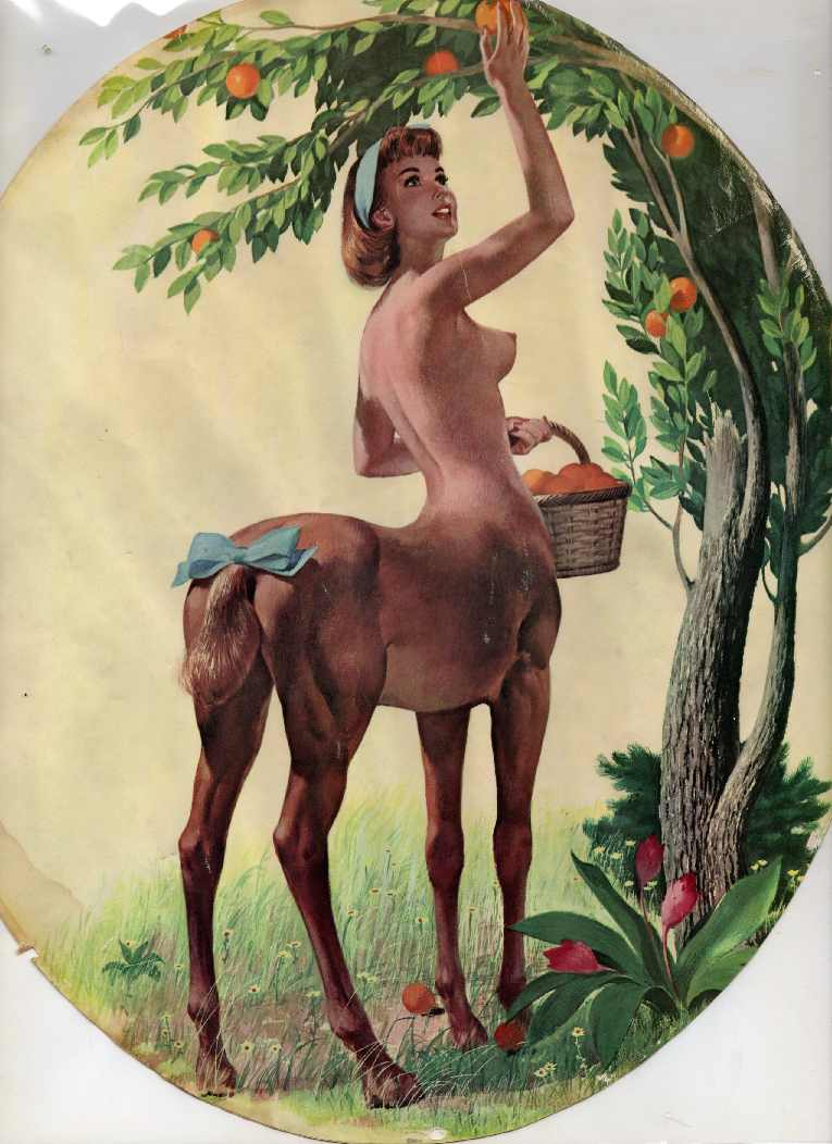 Sexy female centaur fucking models
