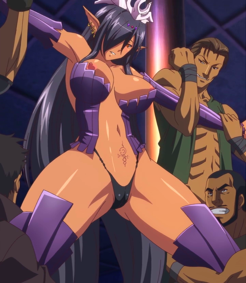 Dark elf rape cartoon scene