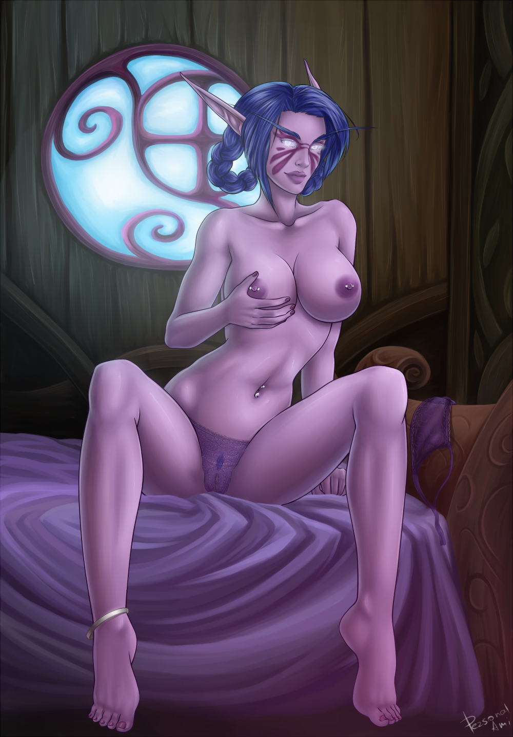 World of warcraft night elf girls sex  porn video