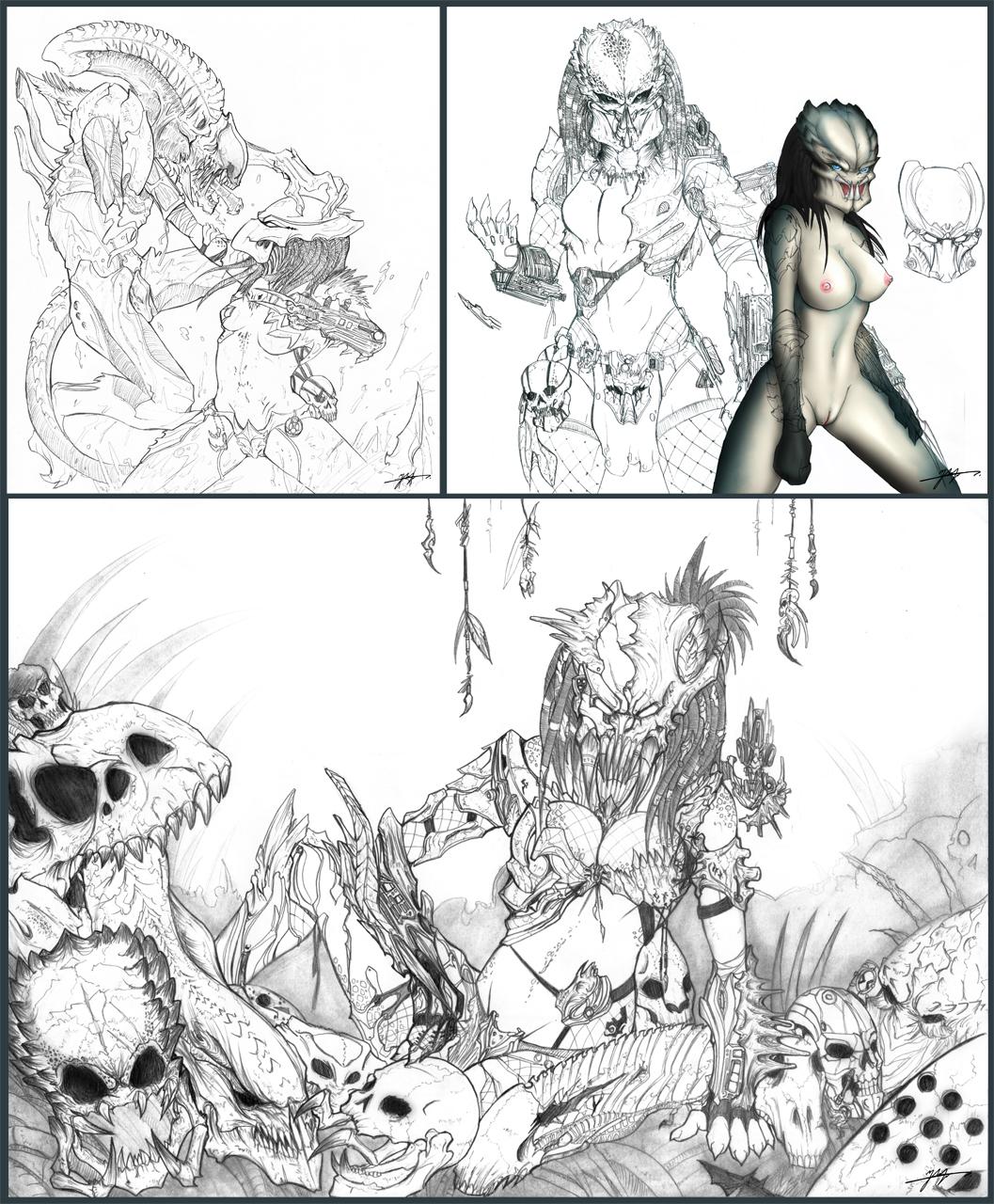 Pics porno de moustros vs aliens hentia scene