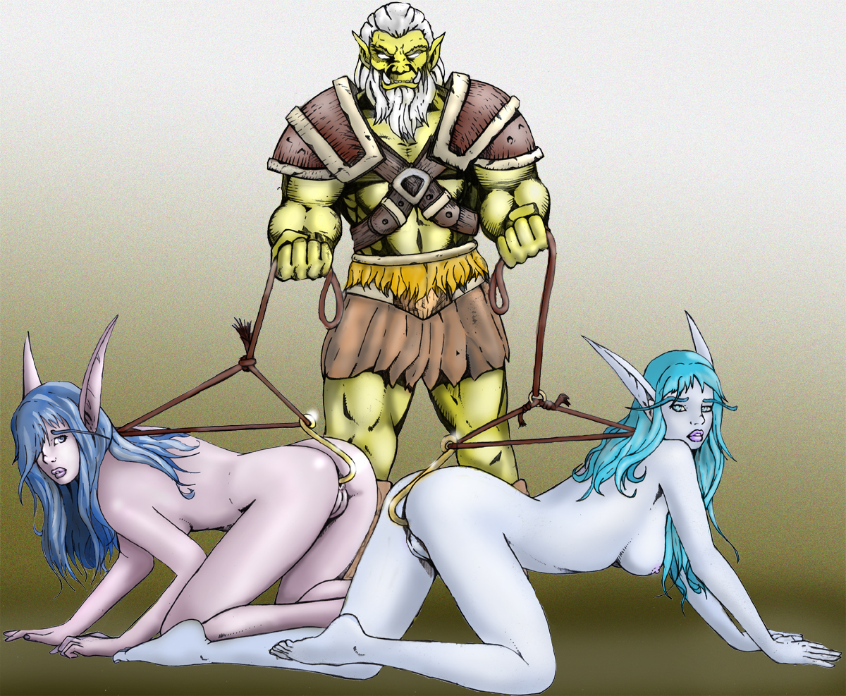 Orcs fuck blonde elf sexy photo