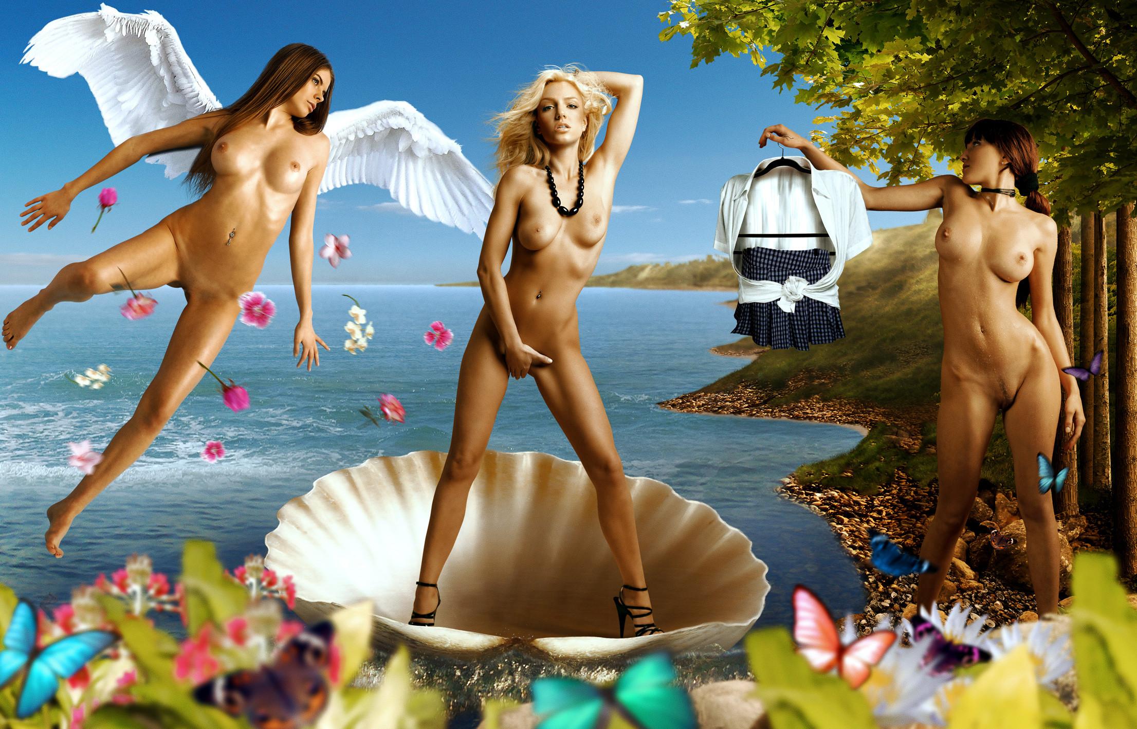 фантастическая голая девушка описать