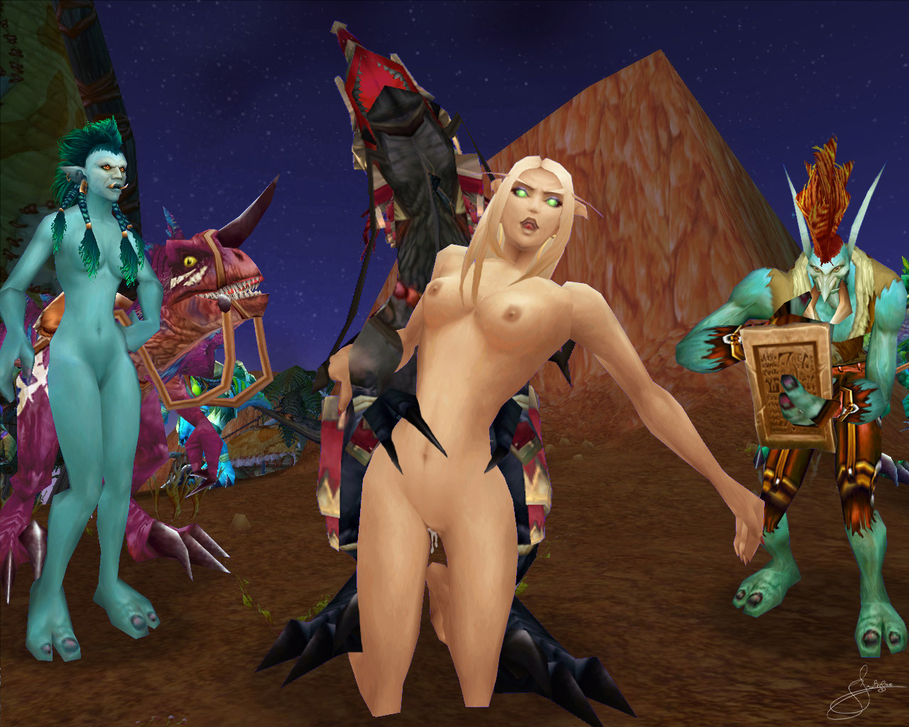 Blood elf and troll naked sex clips
