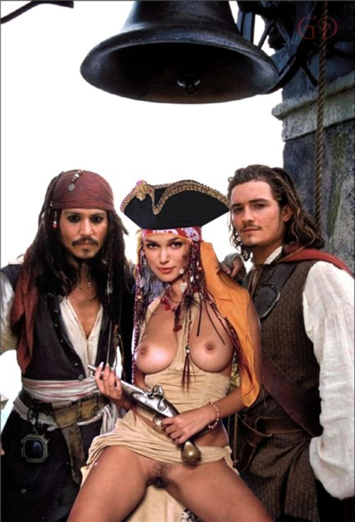 Sexy pussy in pirate of the caribean nude scene