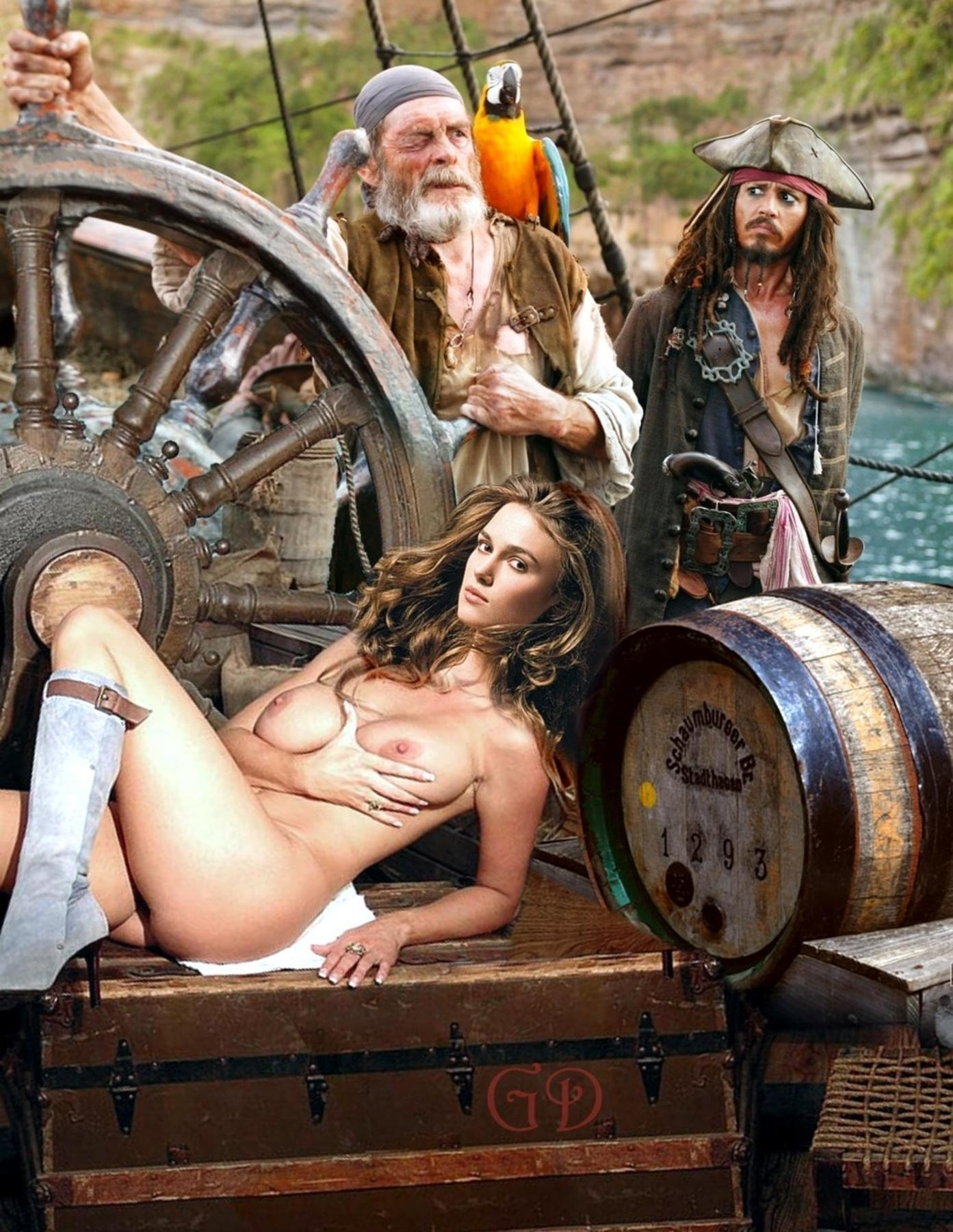 caribbean of Nude pirates porn the