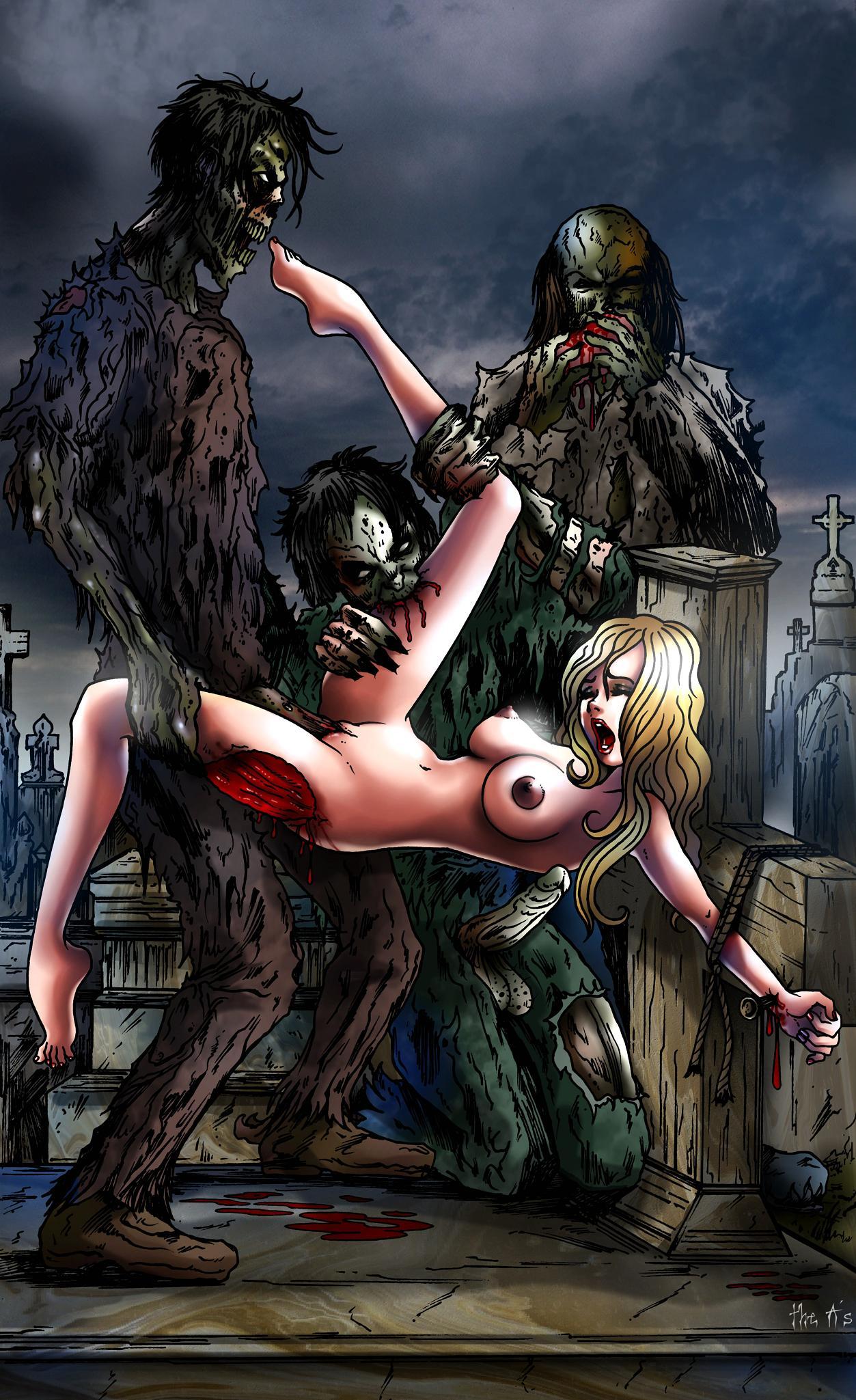 Zombie cartoon sex pics xxx picture