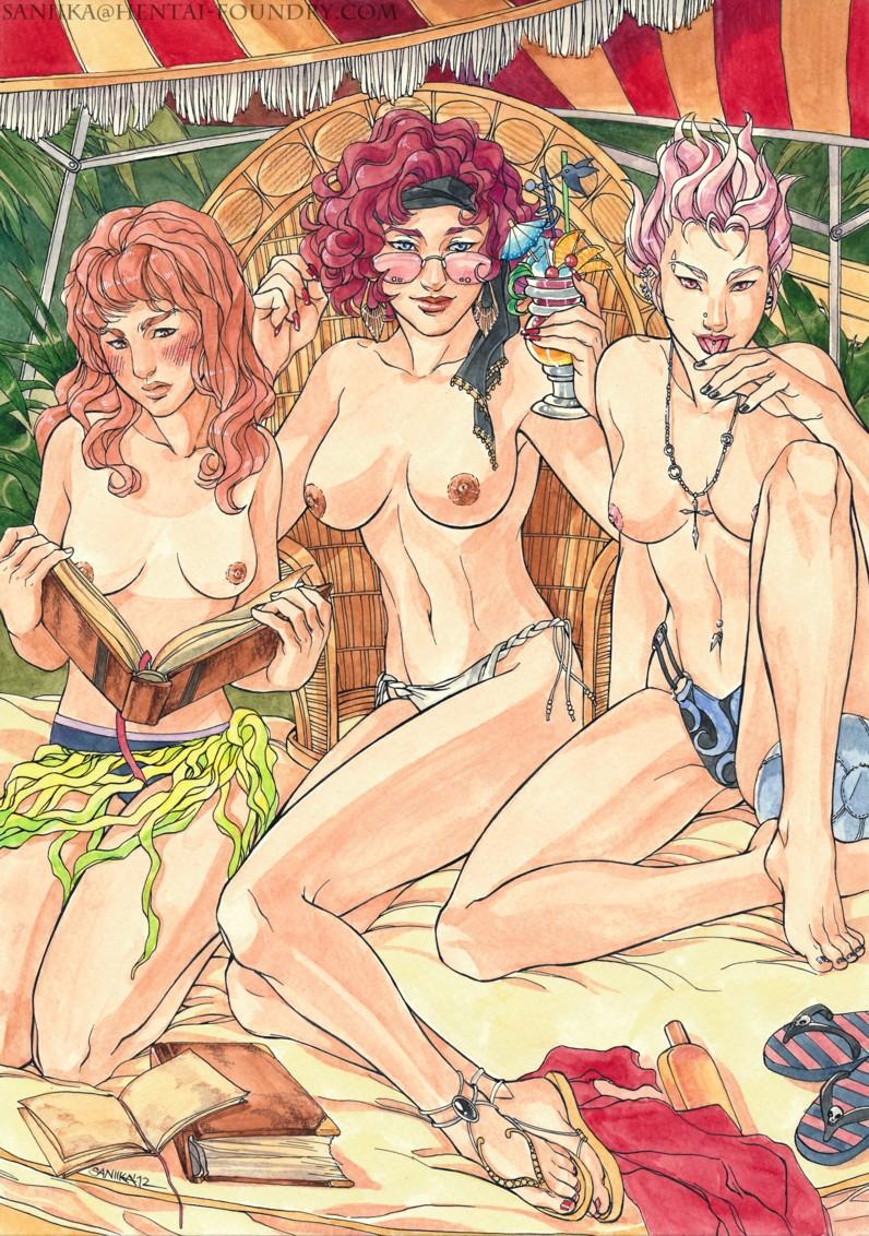 Порно рисунки голые гермиона и тонкс