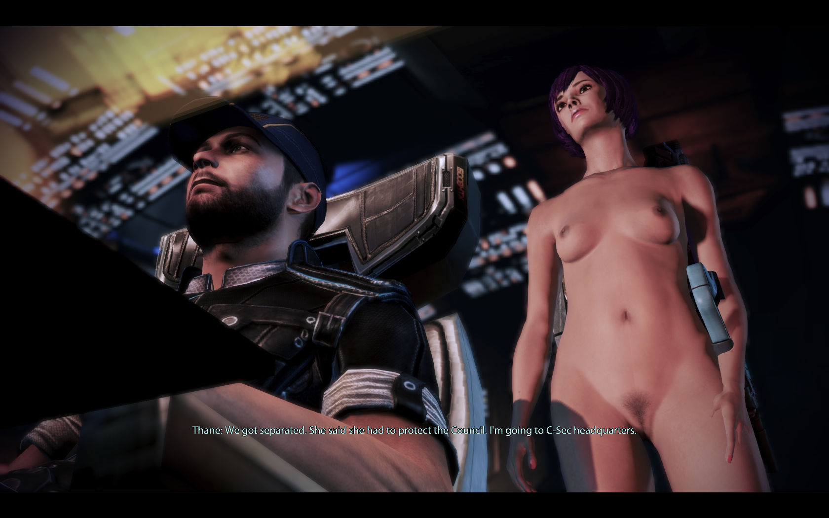 Nude mass effect girl erotic scene