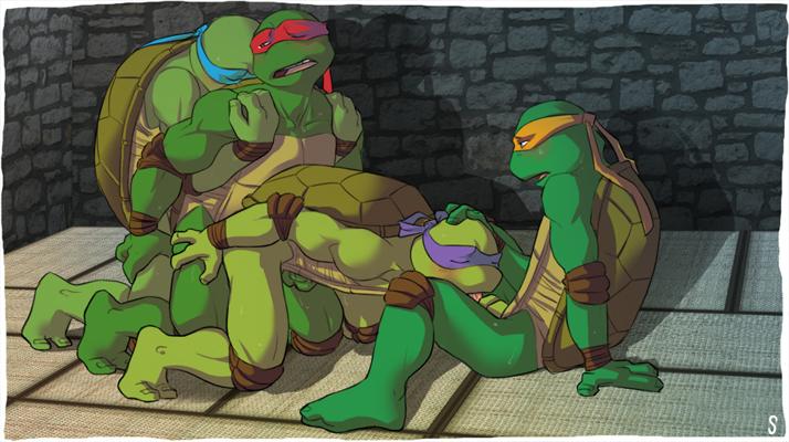 Порно геи черепашки