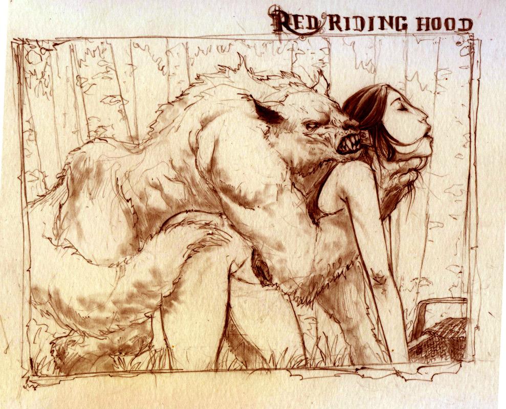 Red riding hood wolf sex hentai girlfriend
