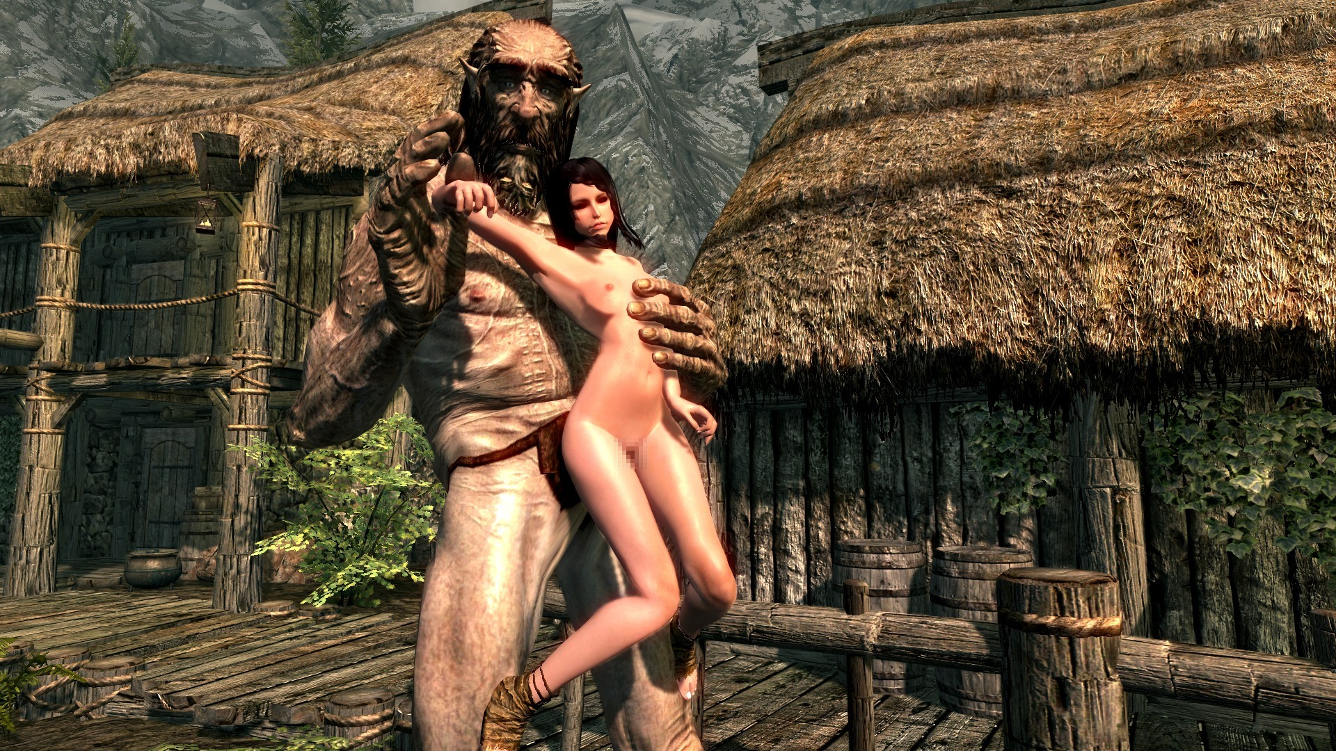 Nude patch in skyrim hentai scene