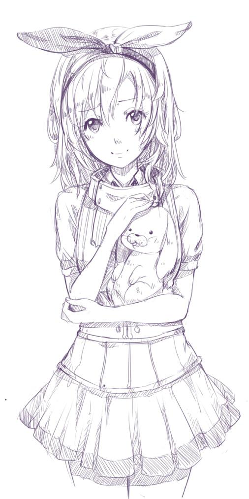 Раскраски аниме короткие волосы