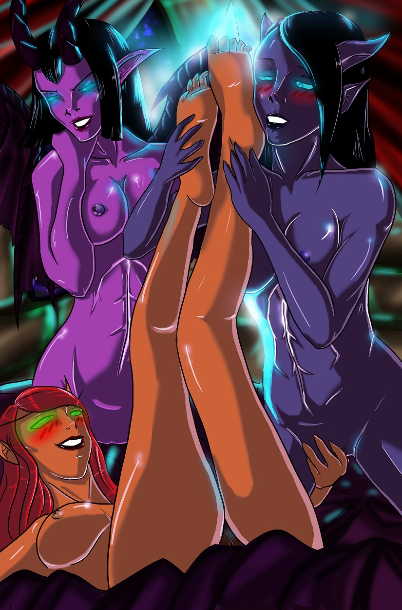 Warlock and succubus hentai WoW nudes video