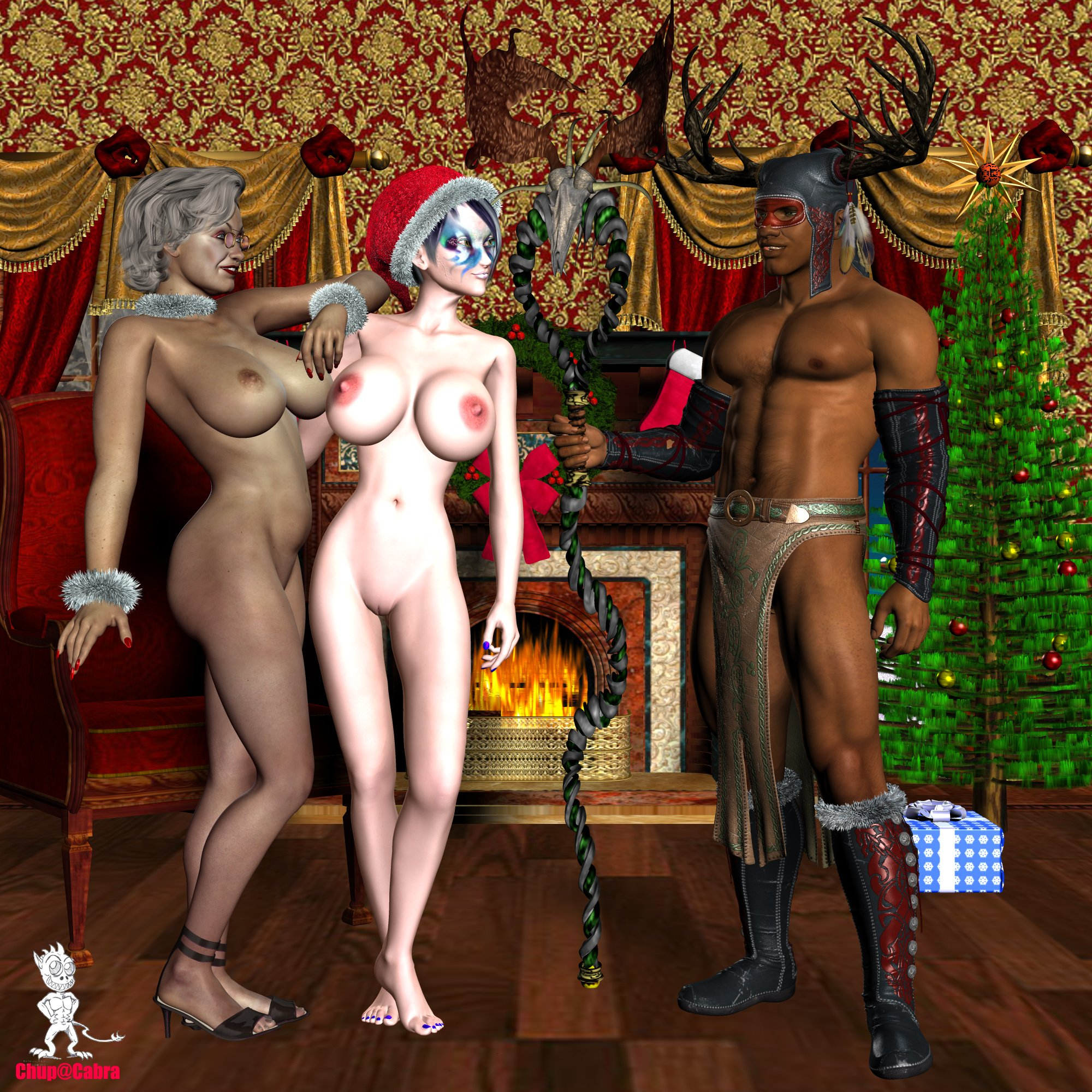 Three girls santa and an elf porn nude clips
