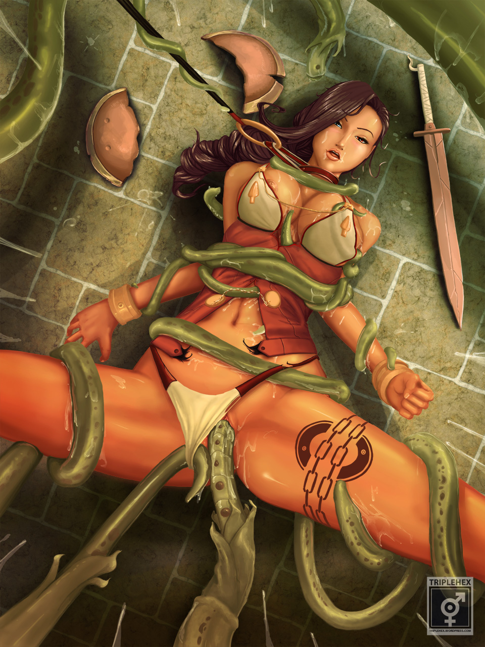 Girl warriors tentacle sex pictures anime picture