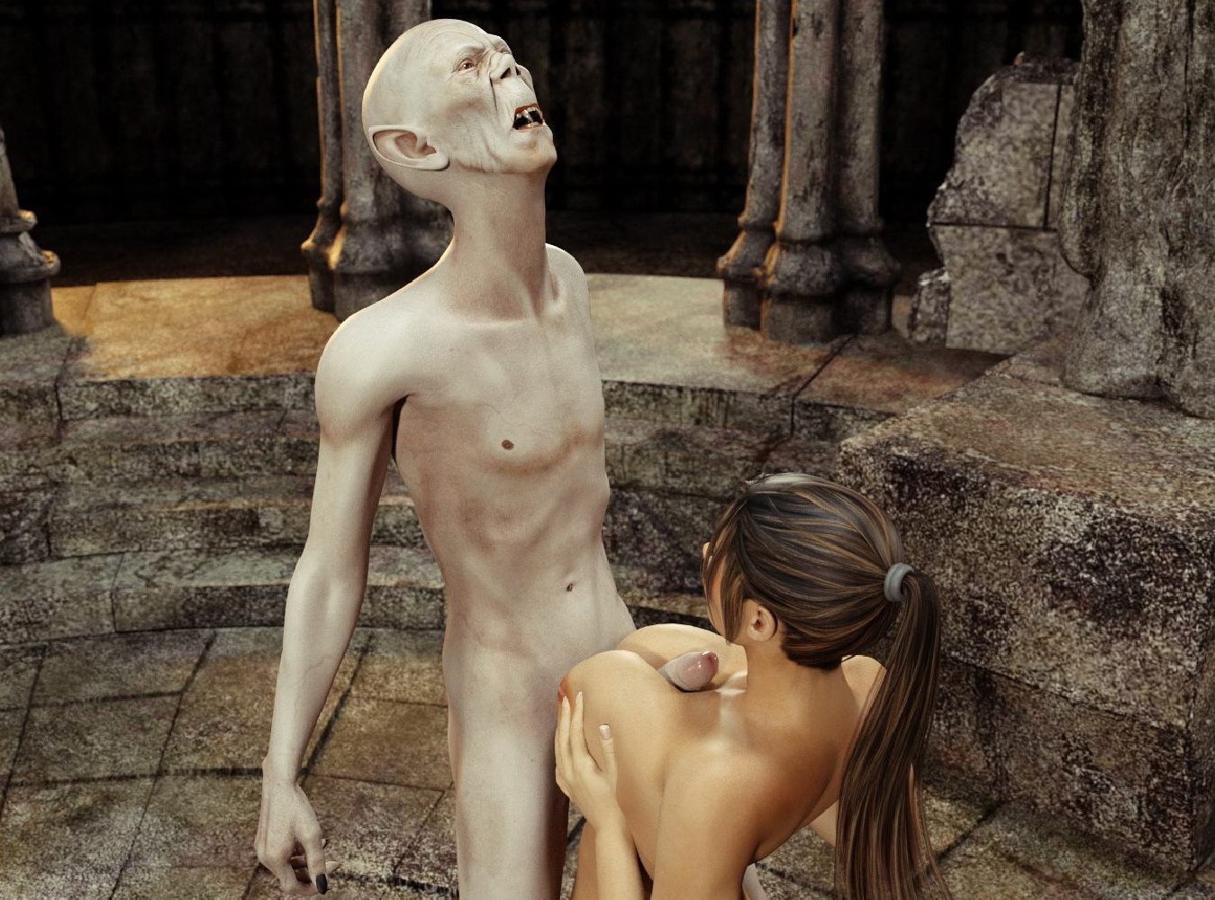 Lara croft raped by a vampire in  pron muscle pussy